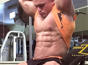 bodybuilder;muscle-worship,Muscle;Gay;Hunks Jackson Gunn Gym...