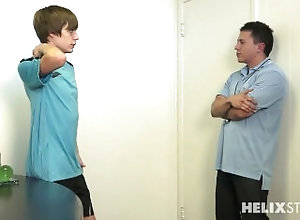 soccer-coach;coachs-office;soccer;soccer-uniform;blowjob;rimming;anal;sucking;moaning;male-moaning;taking-clothes-off;taking-uniform-off,Twink;Pornstar;Gay,kyle ross Talking to the Coach