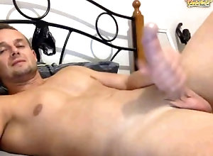 cock;solo,Solo Male;Gay;Webcam jerkoff in bedroom