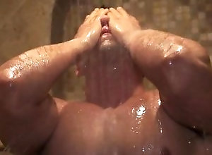 Gay,Gay Muscled,Gay Masturbation Solo,Gay Pornstar,gay,muscled,pornstar,solo masturbation,shower,wet body,bodybuilder,smooth Jacob Taylor