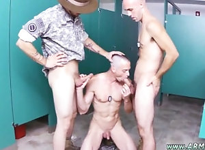 gay;gay-sex;gay-porn;military;blowjob;straight;3some;army;uniform,Gay;Bear;College army gay guys...