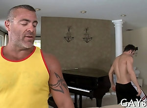 blowjob,hardcore,gay,massage Mature masseur...